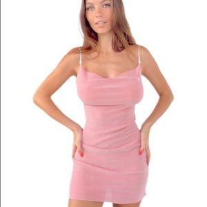 Boutine Los Angeles Bubblegum Shimmer Dress NWT 🦩